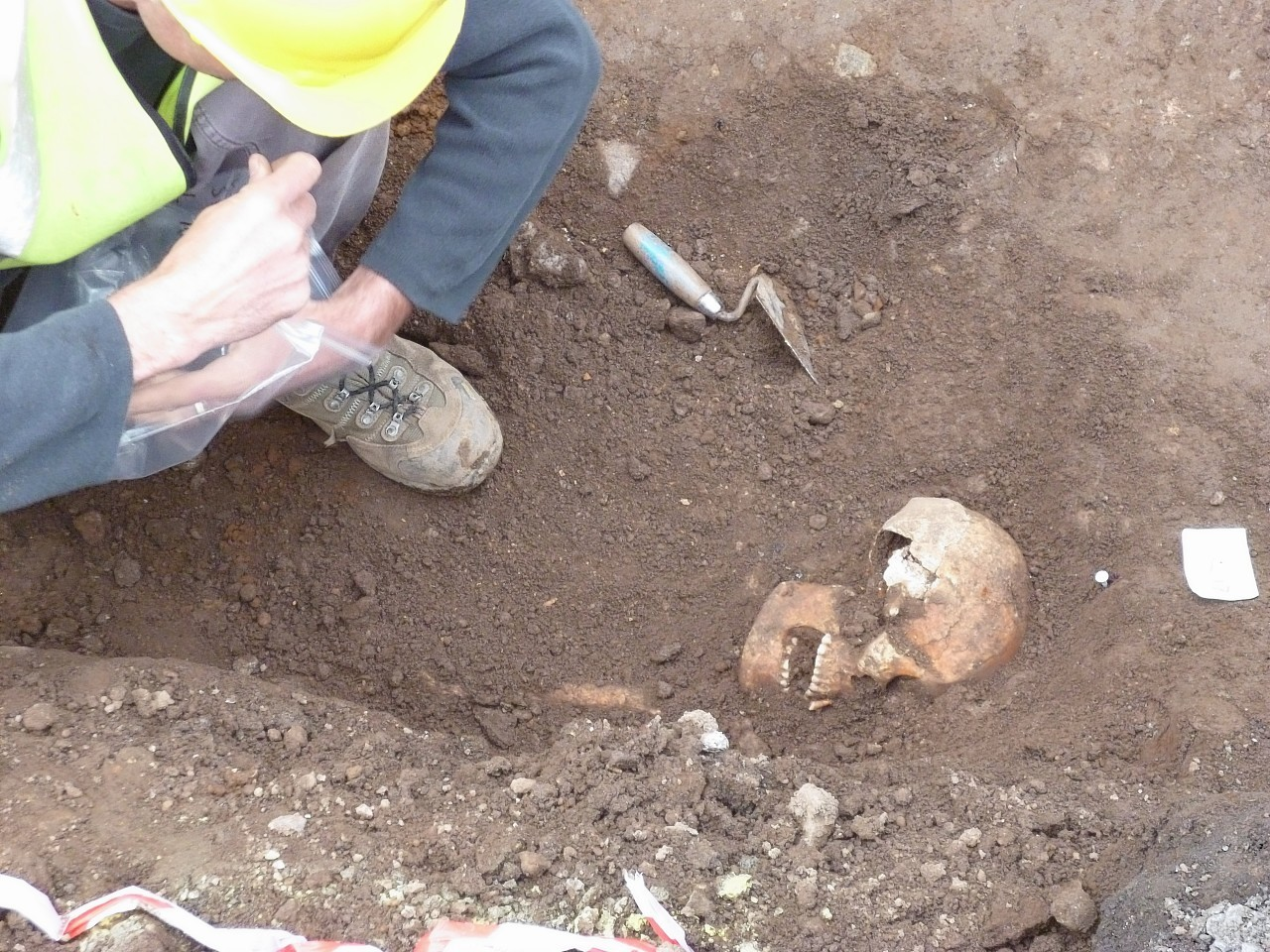 Workmen uncovered the remains