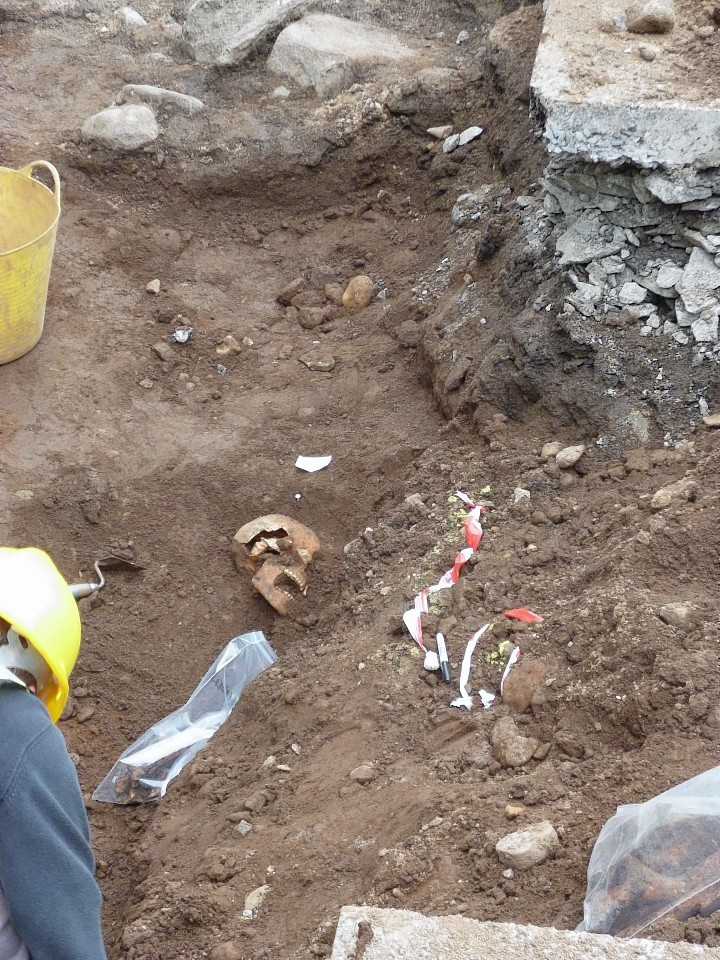 It is believed there may be 25 bodies buried on the site