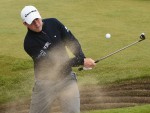 Richie Ramsay gets himself out of trouble on the fifth hole yesterday