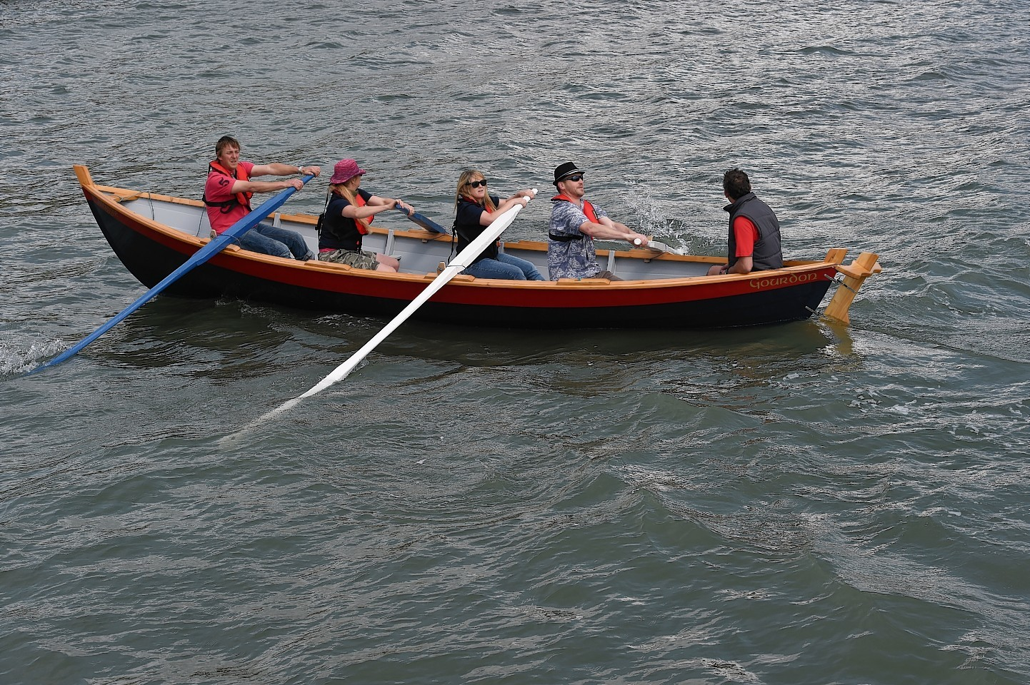 Gourdon Coastal Rowing Association has launched its skiff, Maggie