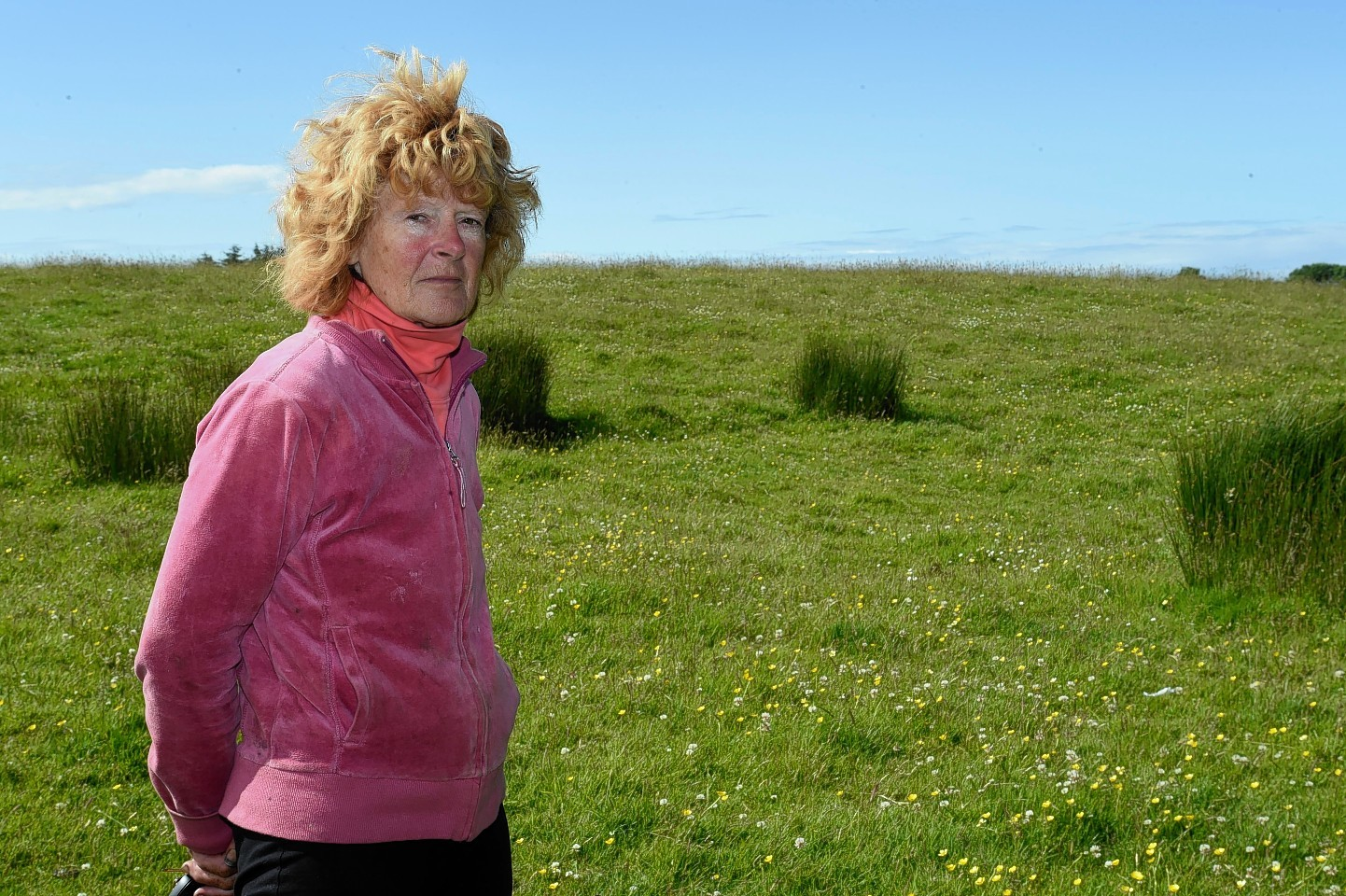 Sharon Bruckshaw chained herself to her tractor