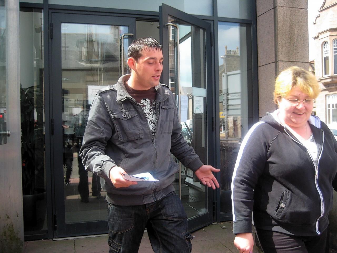 Shaun Downie outside court