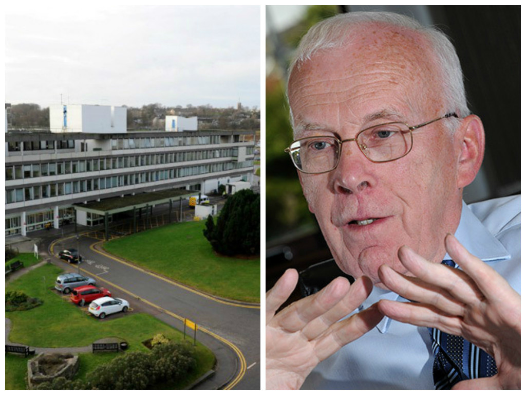 Sir Ian Wood pledged £10million to bring 1,000 new spaces to the  Foresterhill car park