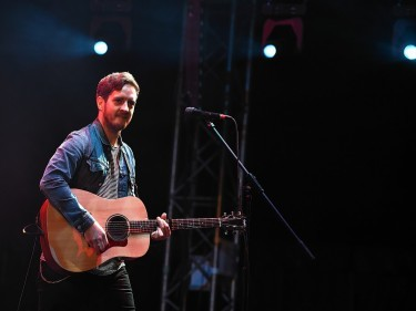 Stevie McCrorie on stage at T in the Park