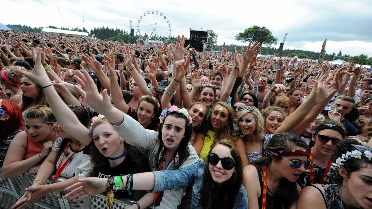 Crowds at T in the Park