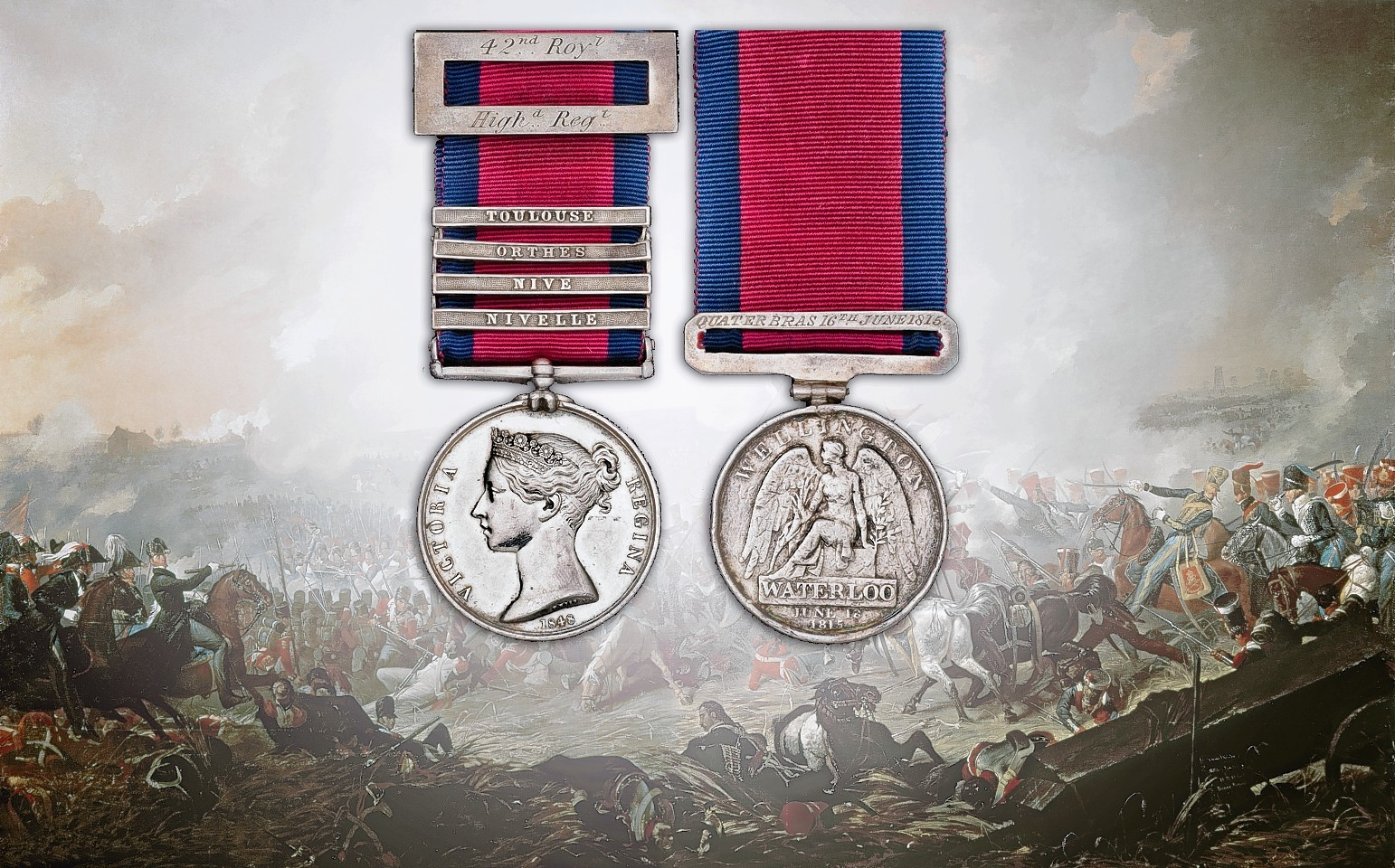 The medals were sold for £4,800 at auction