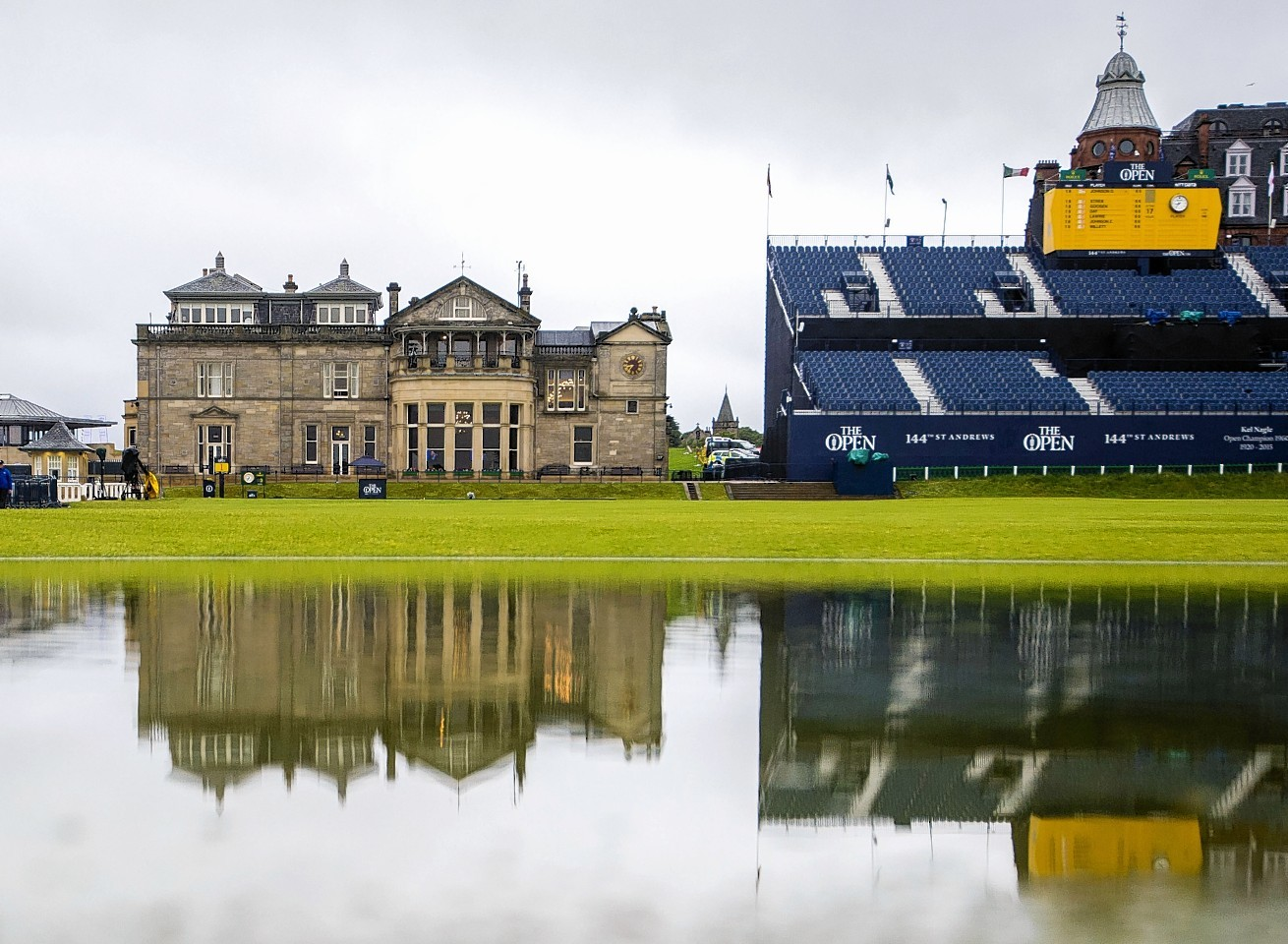 A wet day at The Open on Friday