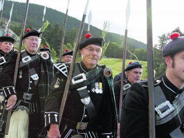 The Lonach Highlanders are one of the main attractions at the Lonach Gathering. Photo: Ian Halliday