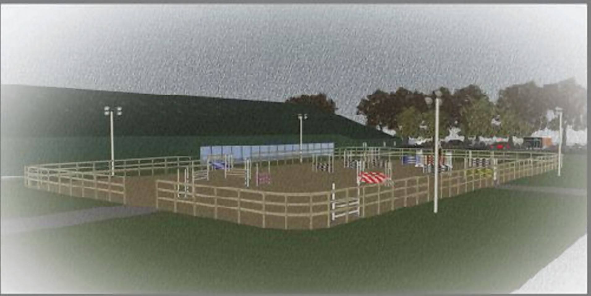 An artists impression of Aberdeen Riding Club's new riding school