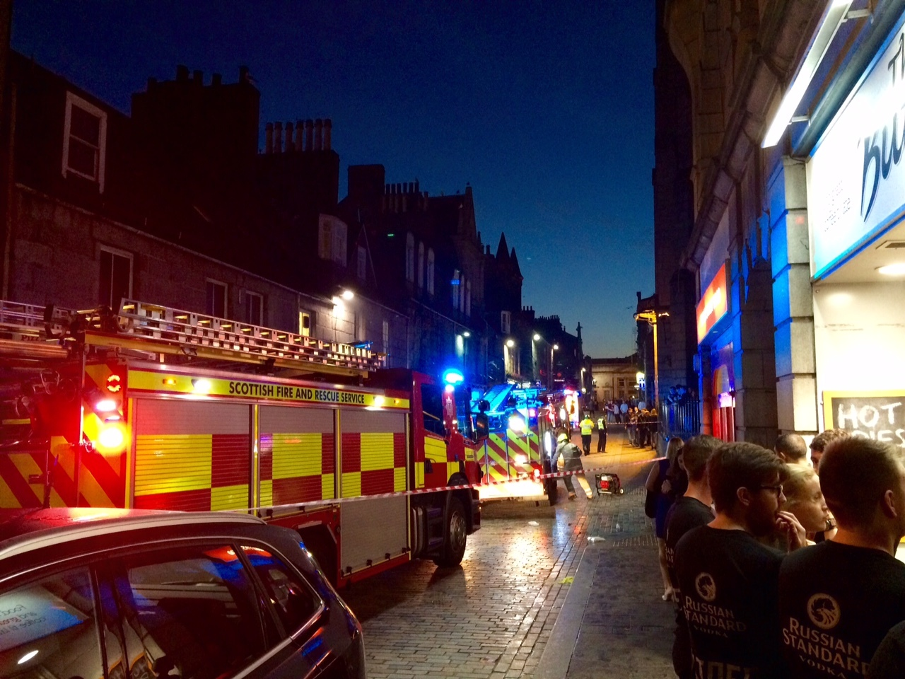The Siberia bar was evacuated due to a small fire. Picture courtesy of Davy Shanks.