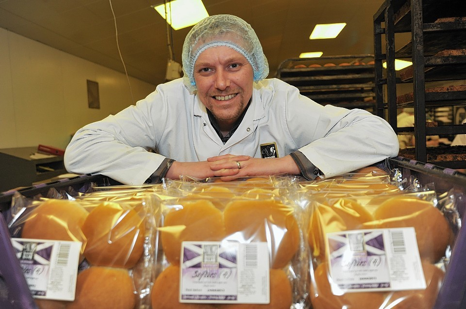 Murdoch Allan MD Paul Allan in the bakery at Hatton