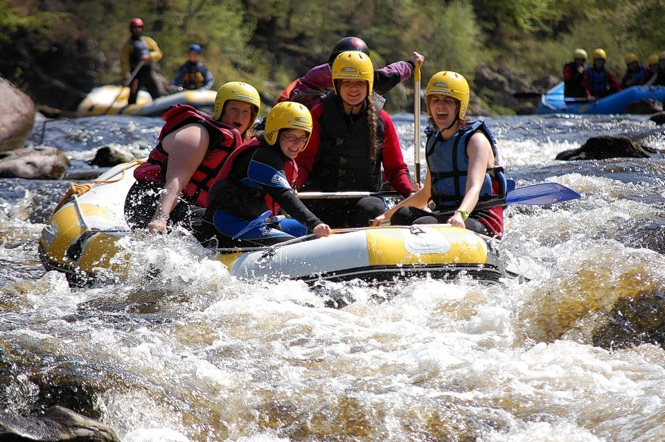 Rafting on the River Findhorn