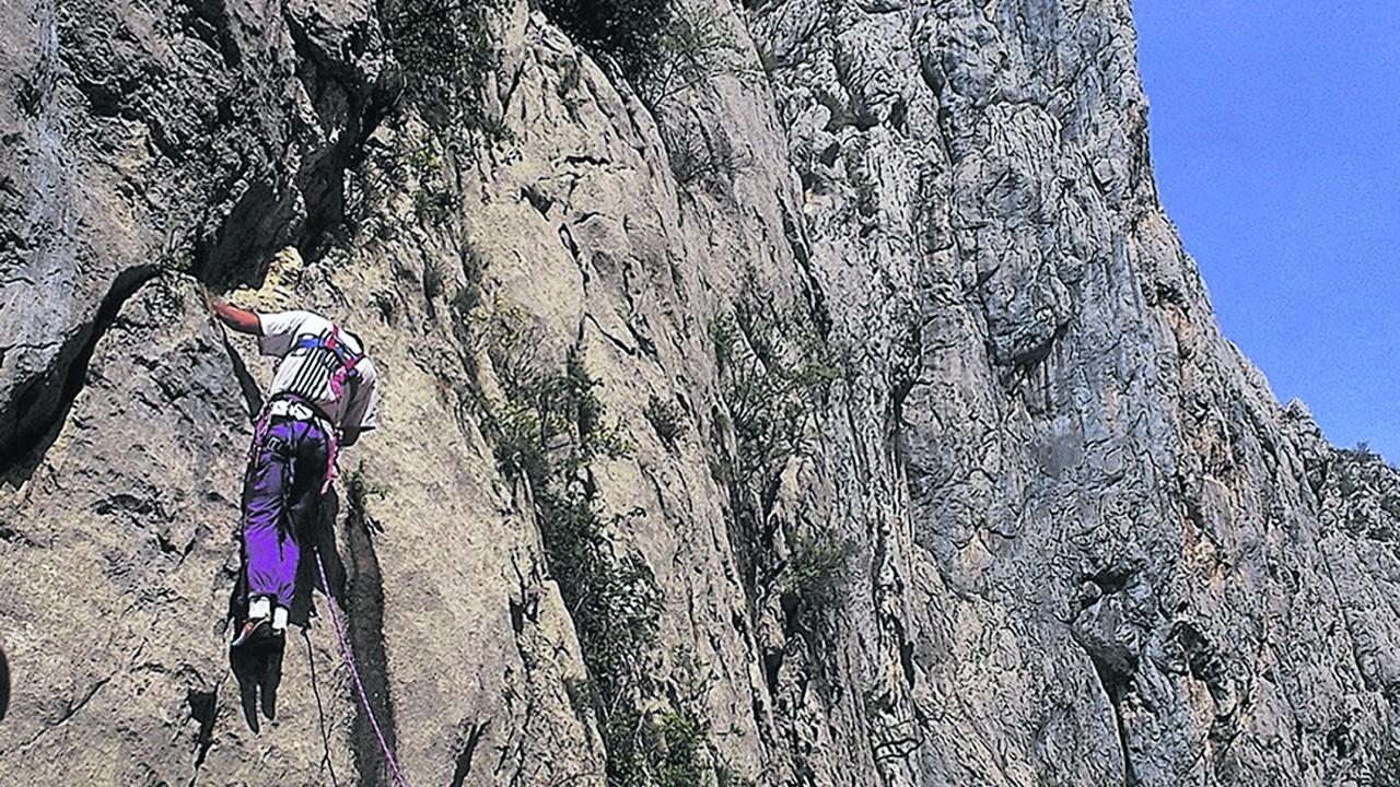 Rock climbing in Paklenica