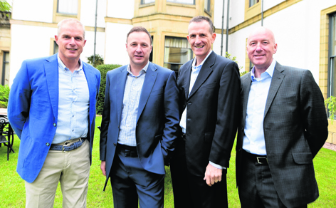 Theo Snelders, Michael Watt, Brian Irvine and Neil Simpson at the NESS AFC 25th anniversary lunch