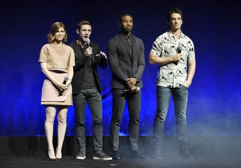 The Fantastic Four: Kate Mara, Jamie Bell, Michael B. Jordan and Miles Teller