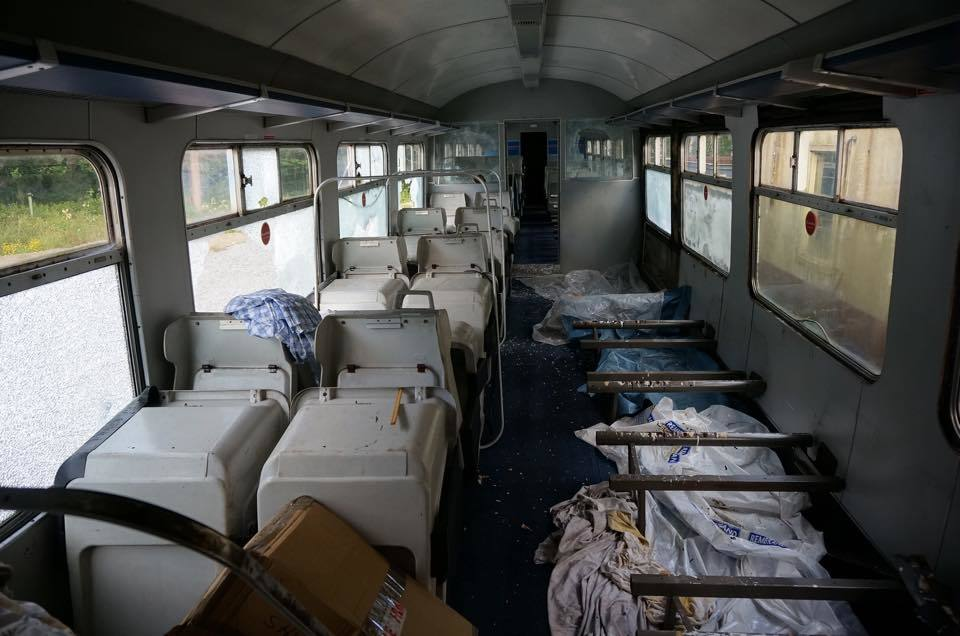 Inside the attacked carriage