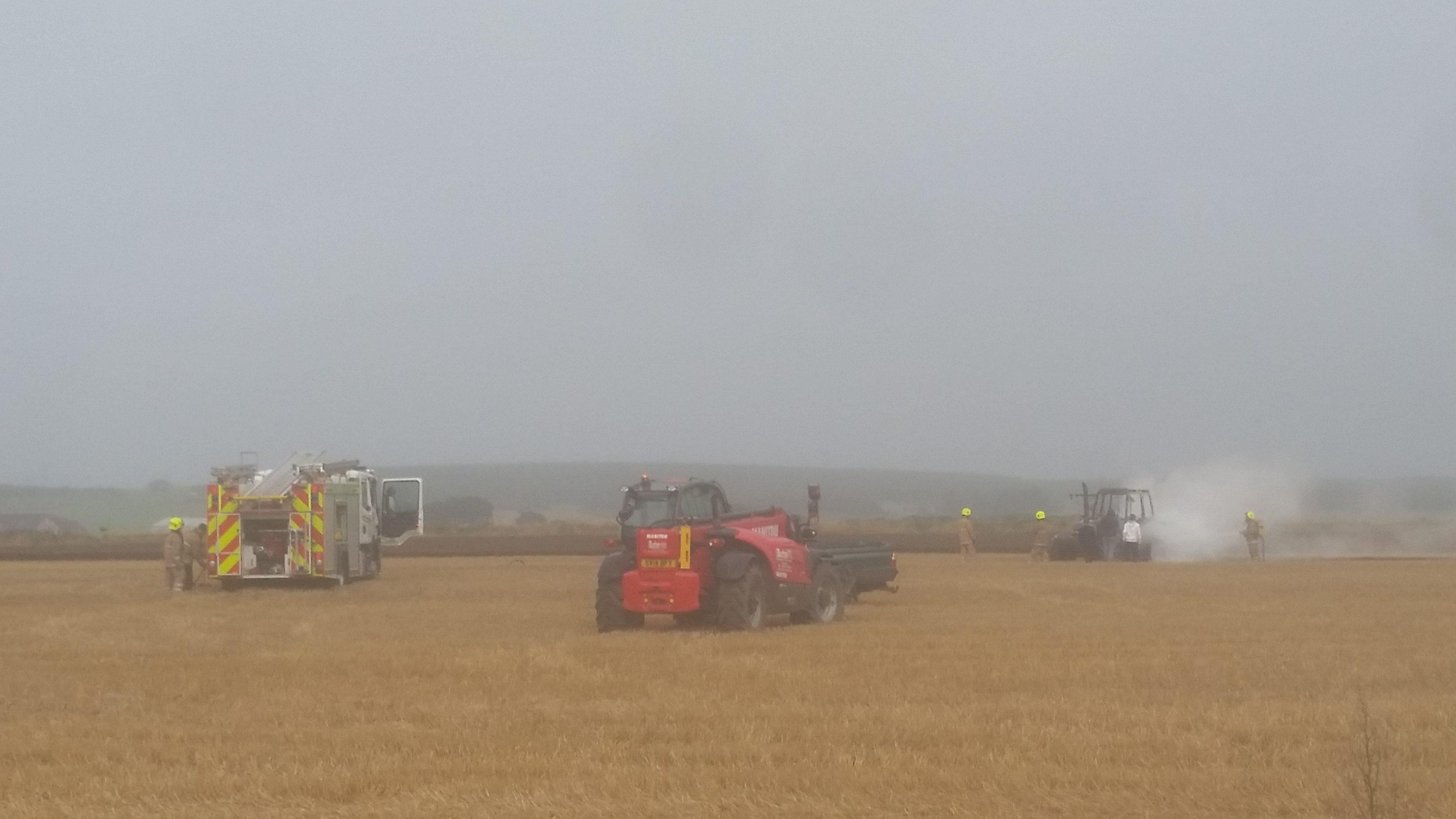Tractor fire at Rora