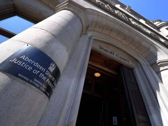 The case was heard at Aberdeen Sheriff Court