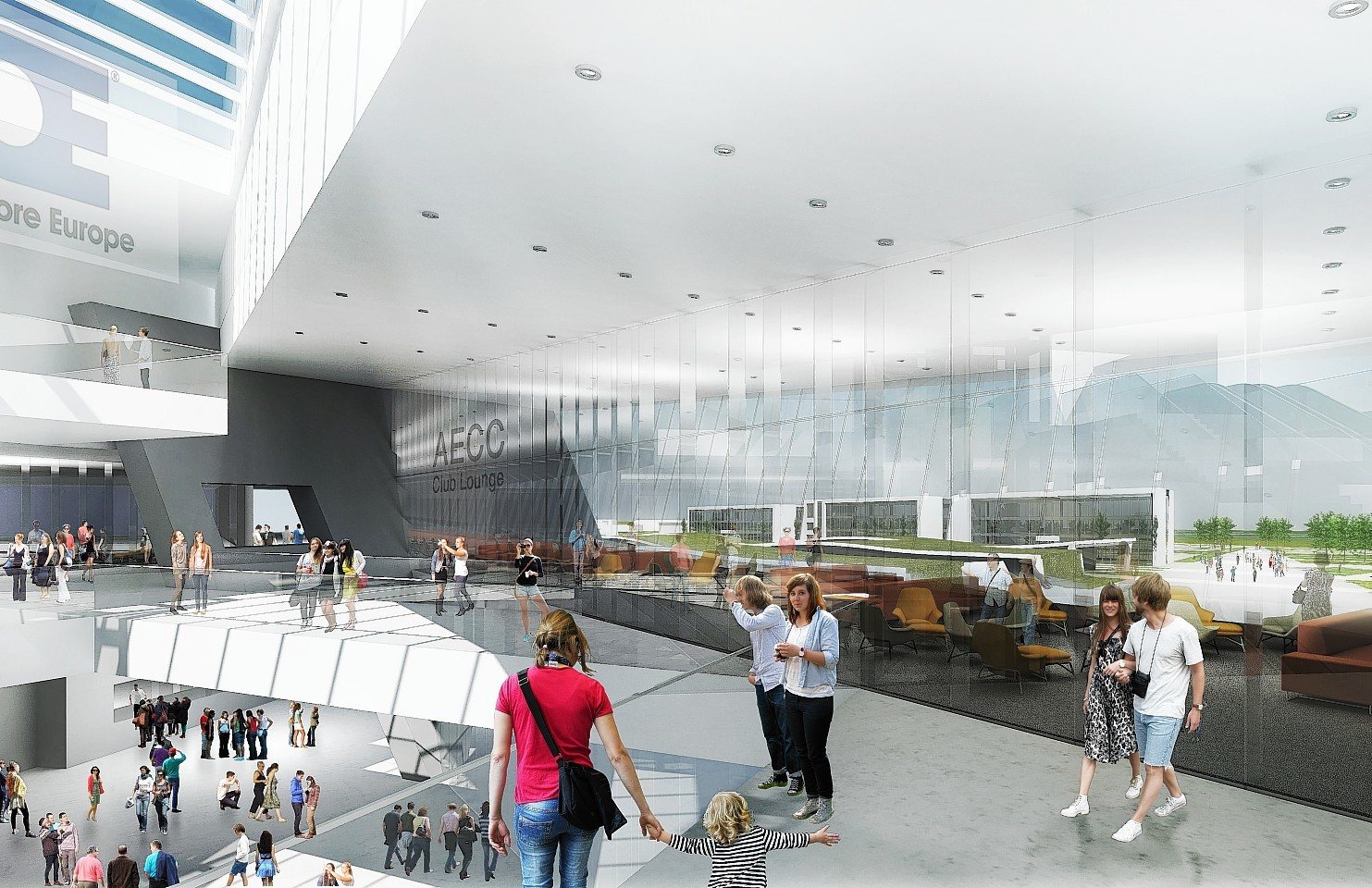 New artist's impression of the new AECC