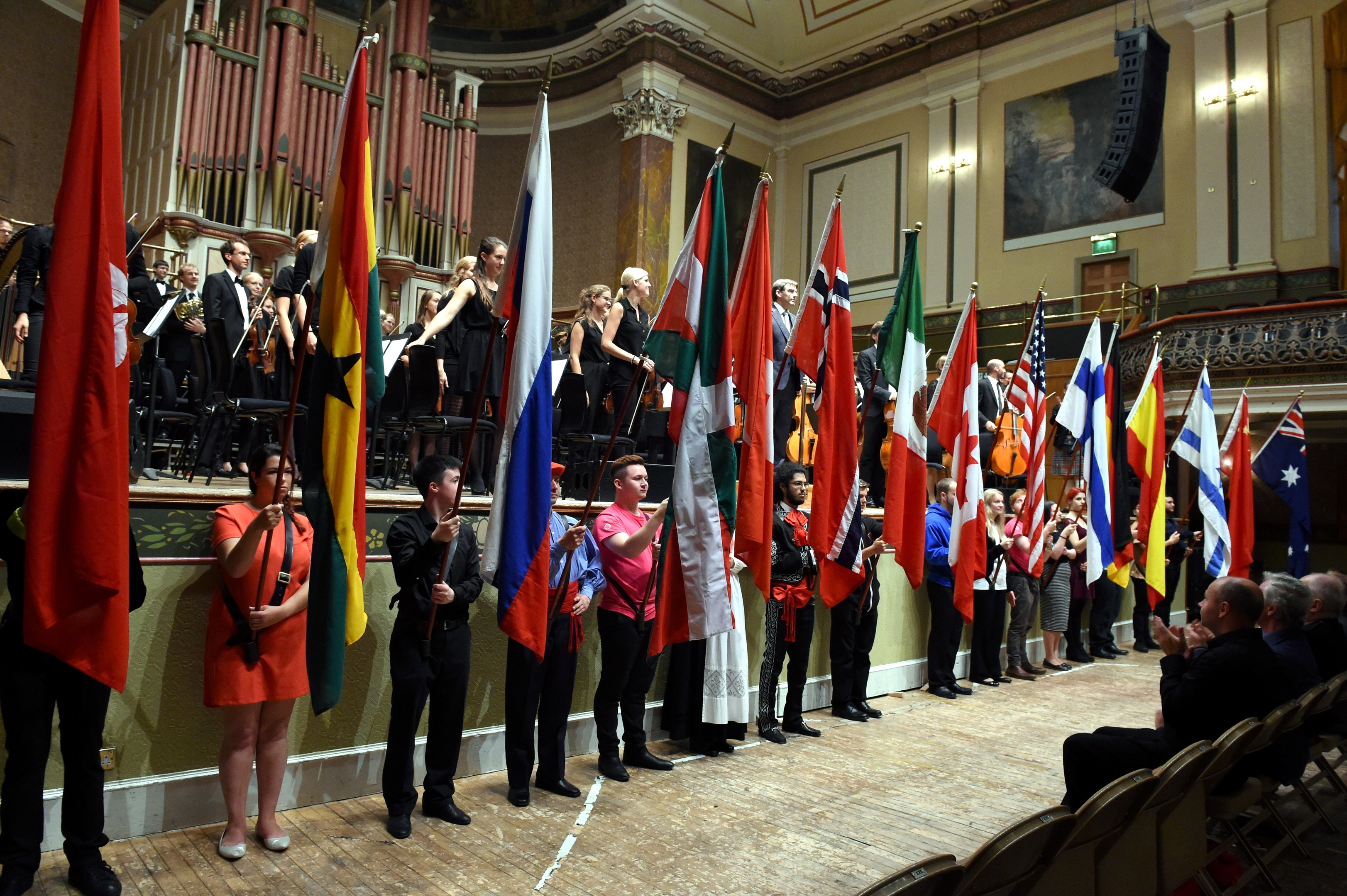 The Aberdeen International Youth Festival opening ceremony at Music Hall, Aberdeen in 2015