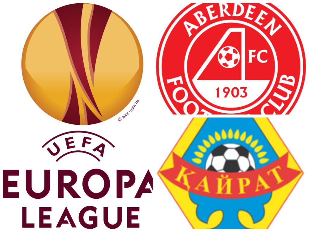 Aberdeen v Kairat Almaty kicks off tonight at 7.45pm