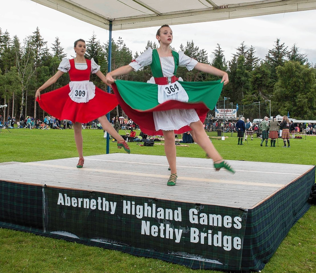 Dancers take to the stage at Abernethy Highland Games