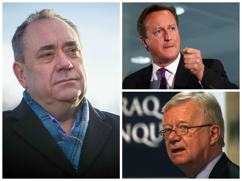 Alex Salmond has criticised David Cameron's handling of the Chilcot Inquiry