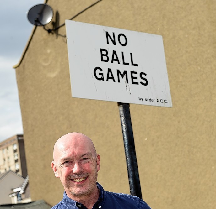 Chief Executive of the Aberdeen Football Club Community Trust Ally Prockter is backing Aberdeen city's decision to take down all the No Ball Games signs.     Picture by Kami Thomson
