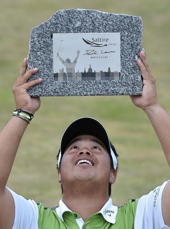 Kiradech Aphibarnrat savours his victory. Picture by Colin Rennie