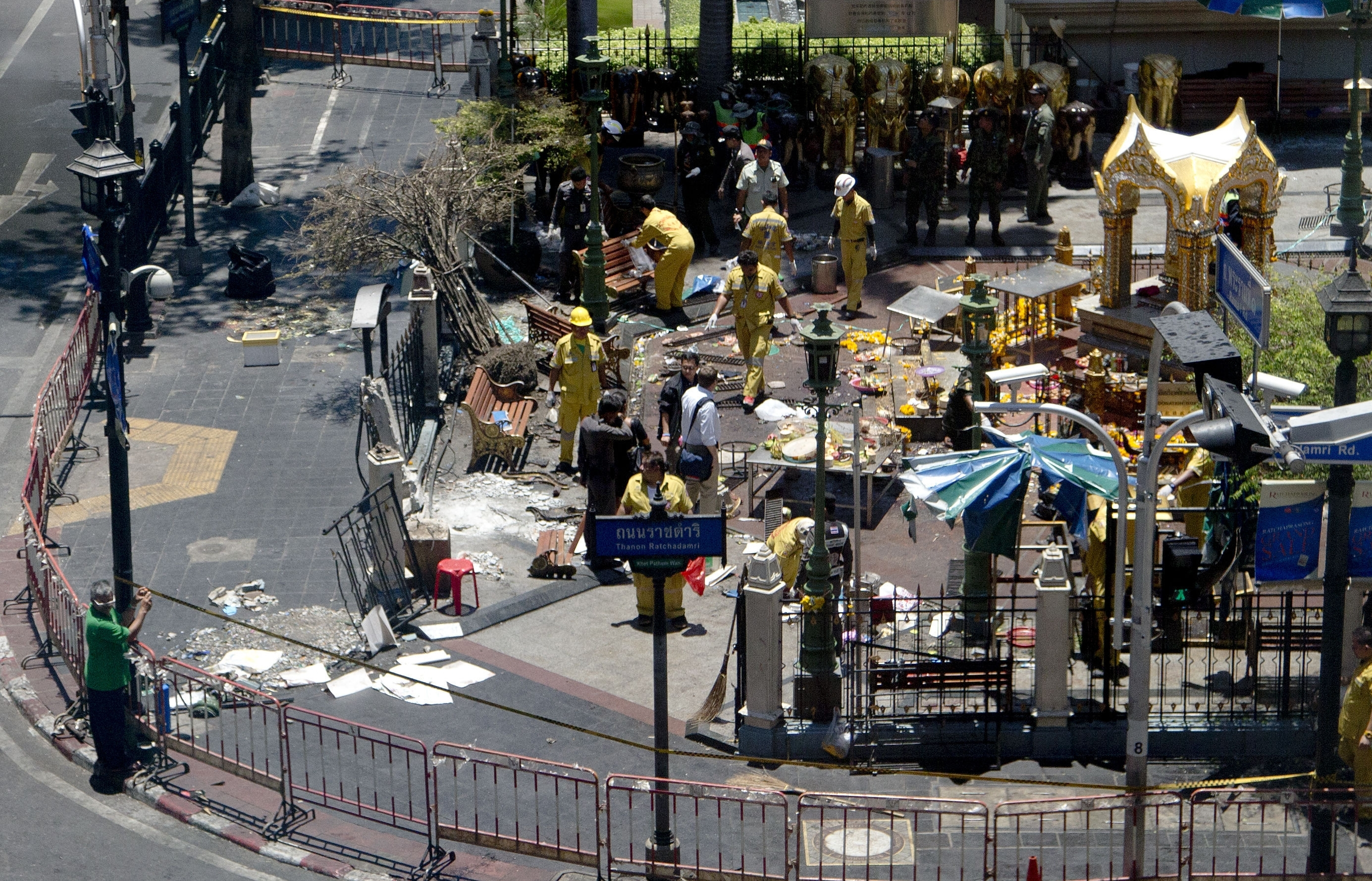 Investigations continue at the Erawan Shrine