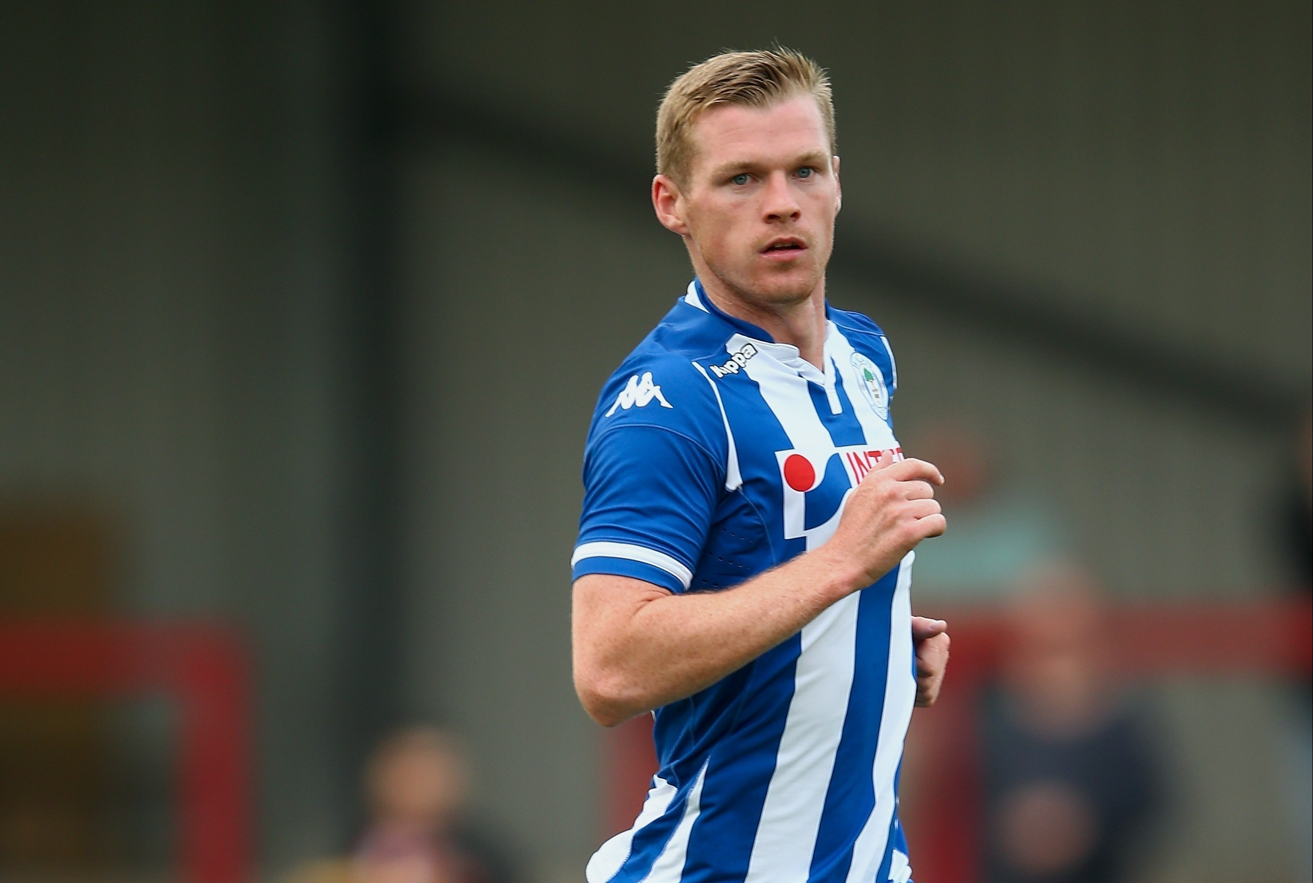 Billy McKay in action for Wigan Athletic