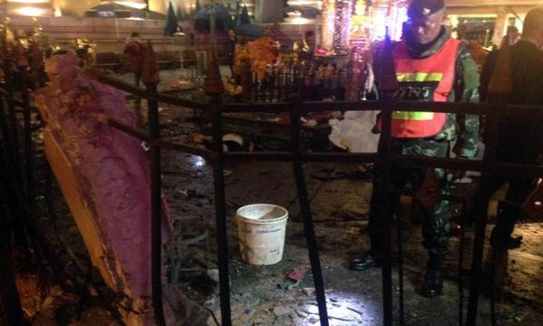 Bangkok city centre explosion.