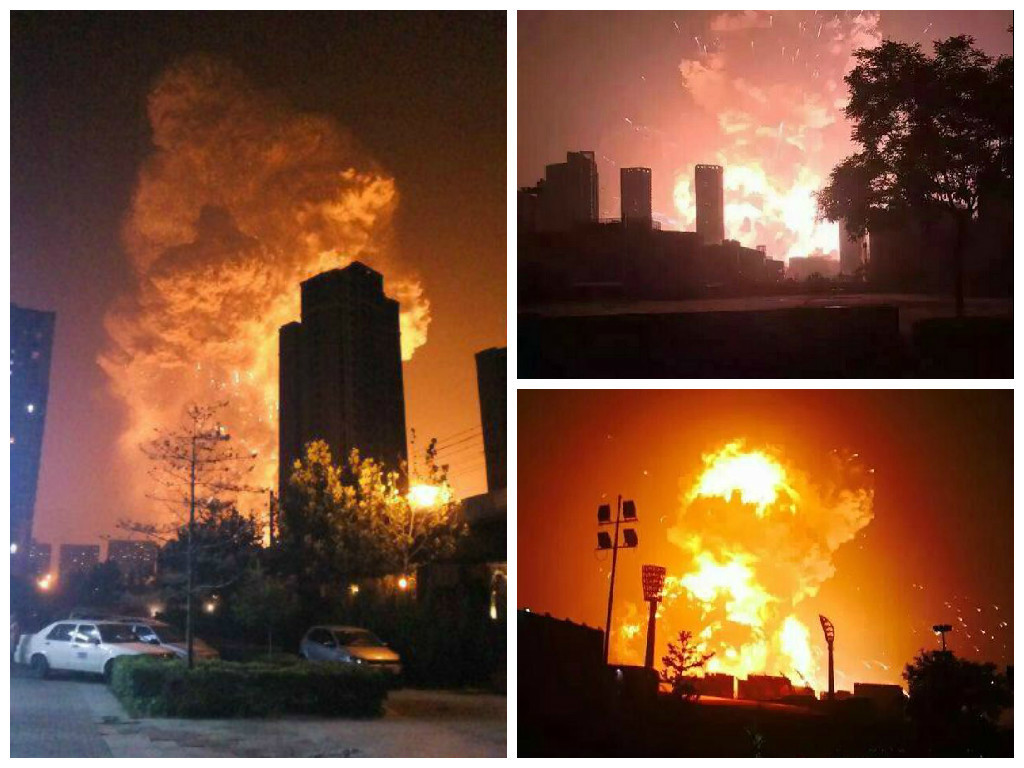 Pictures of the explosion have been shared on social media