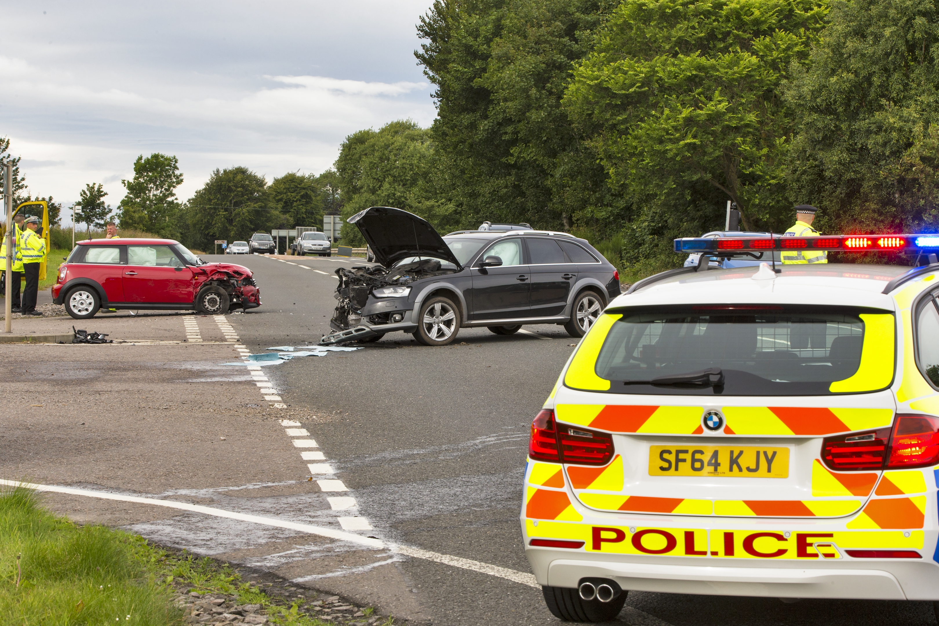 The accident happened at around 8.30am on the A96 Aberdeen to Inverness road