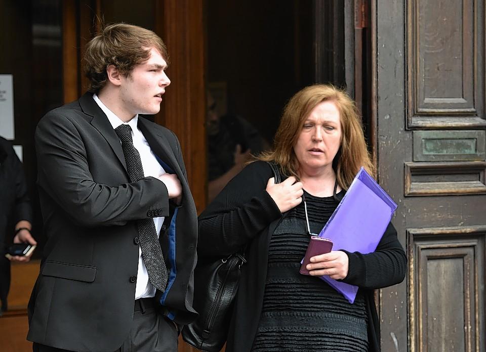 Bryn Sloan outside court