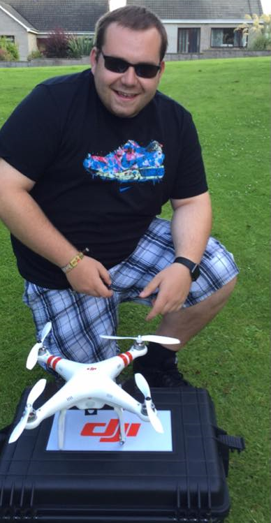 Kristopher Taylor with the drone