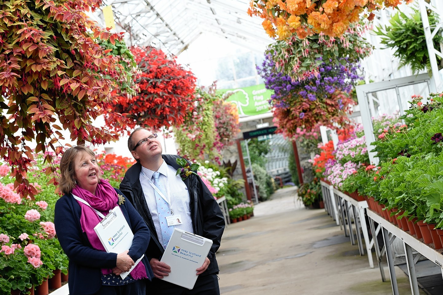 Judges from Beautiful Scotland visited Duthie Park Winter Gardens. Picture by Kami Thomson