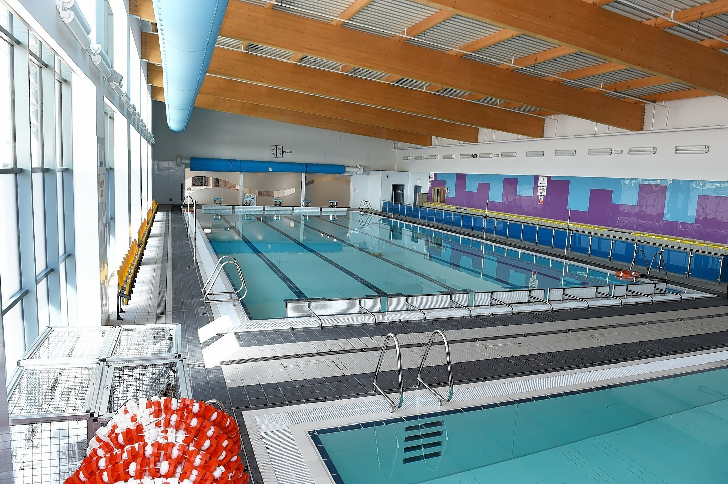 The new Ellon Academy Community Campus swimming pool.