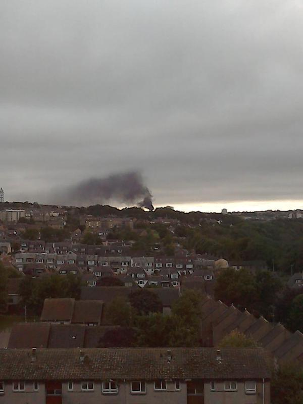 Fire at Northfield - picture courtesy of Paul Wilson