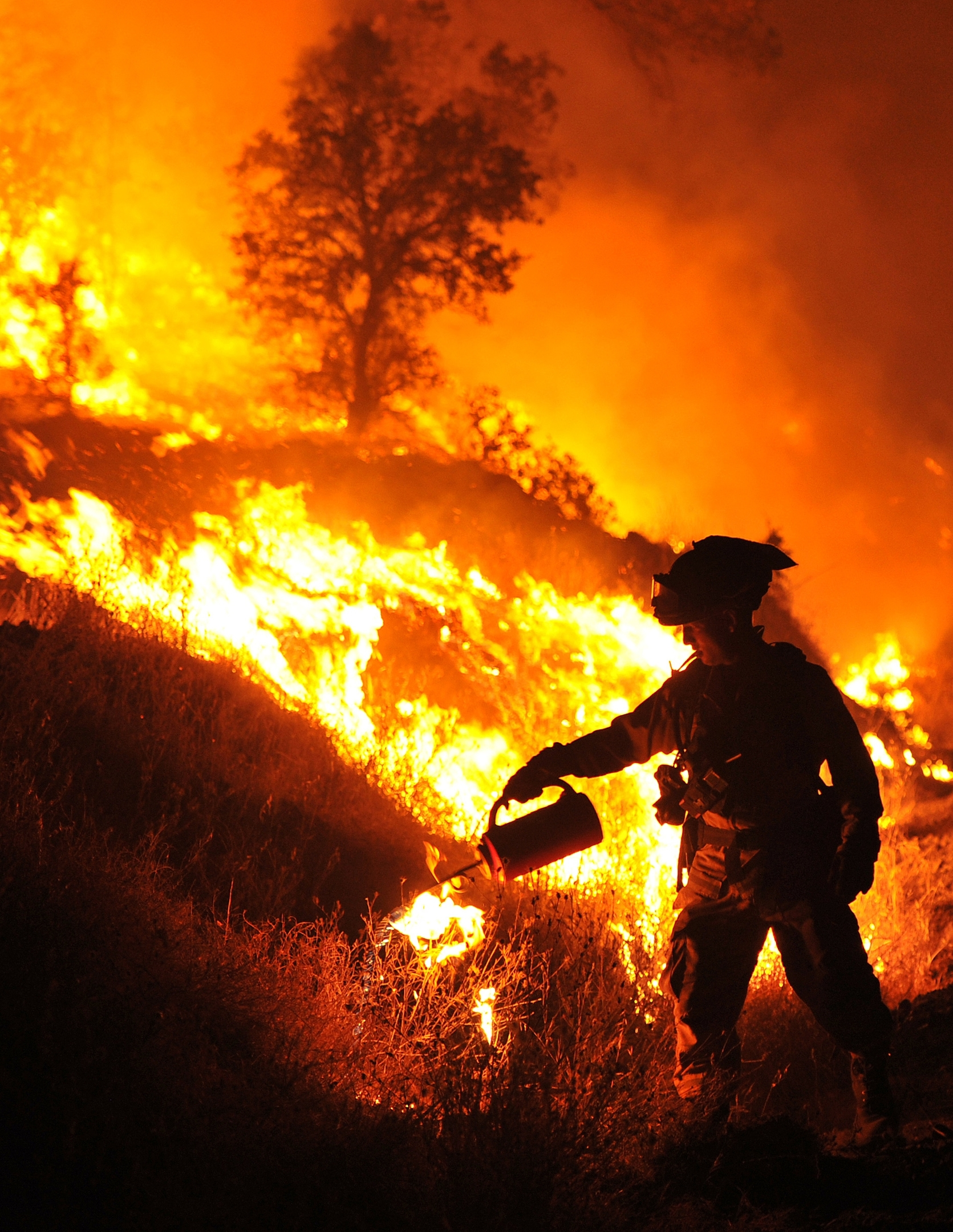 CalFire firefighter Bo Santiago