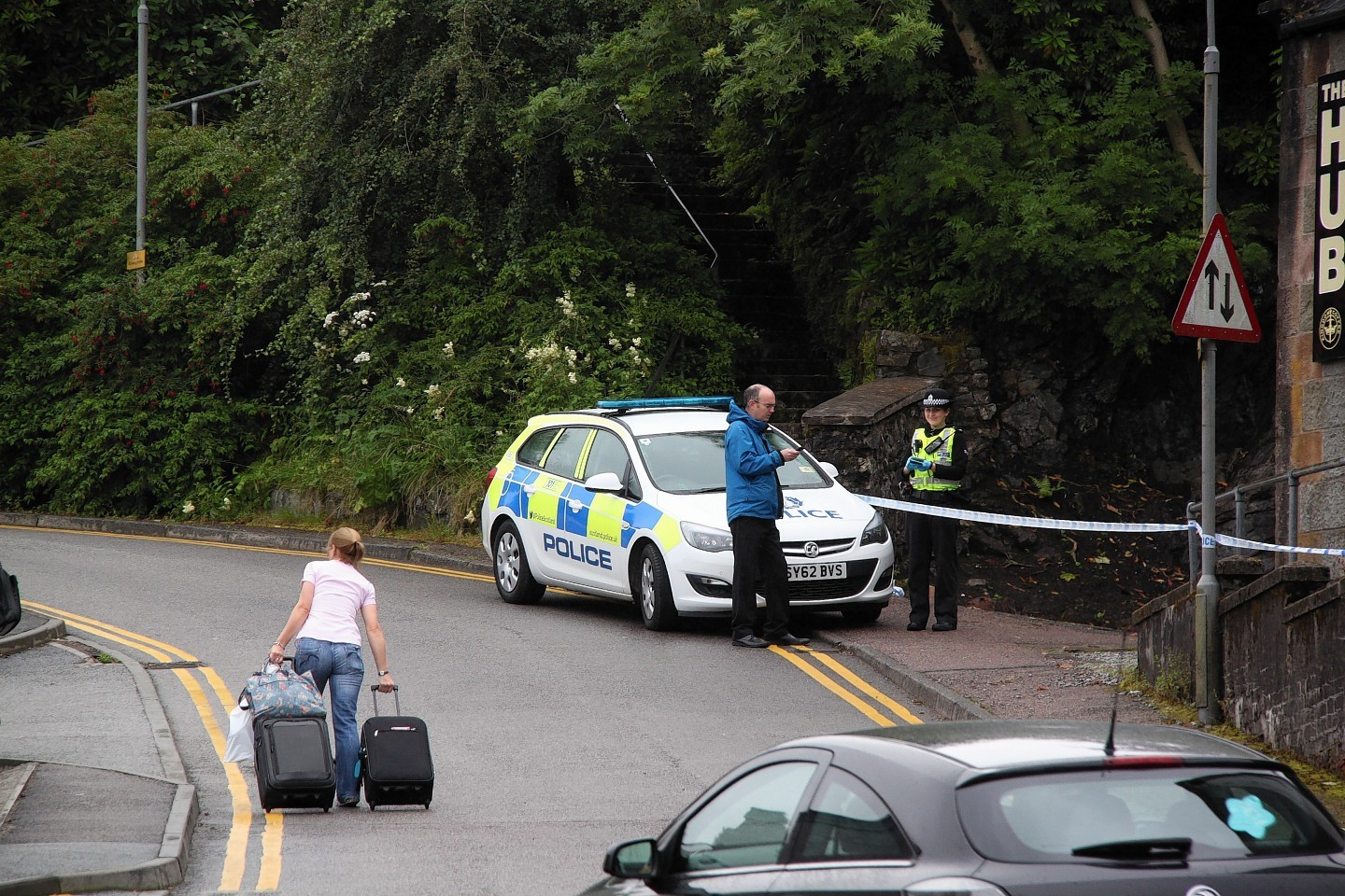 Police in the area of Fort William where the woman was found
