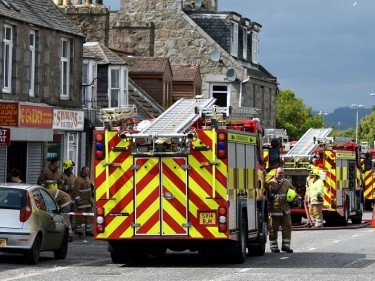 Four fire crews were sent to the scene at Great Northern Road
