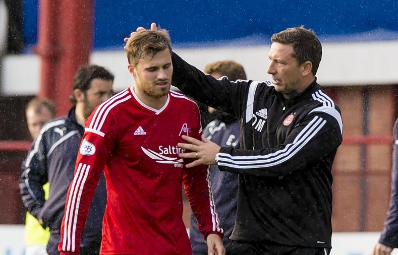 McInnes has been impressed with Goodwillie's performances this season