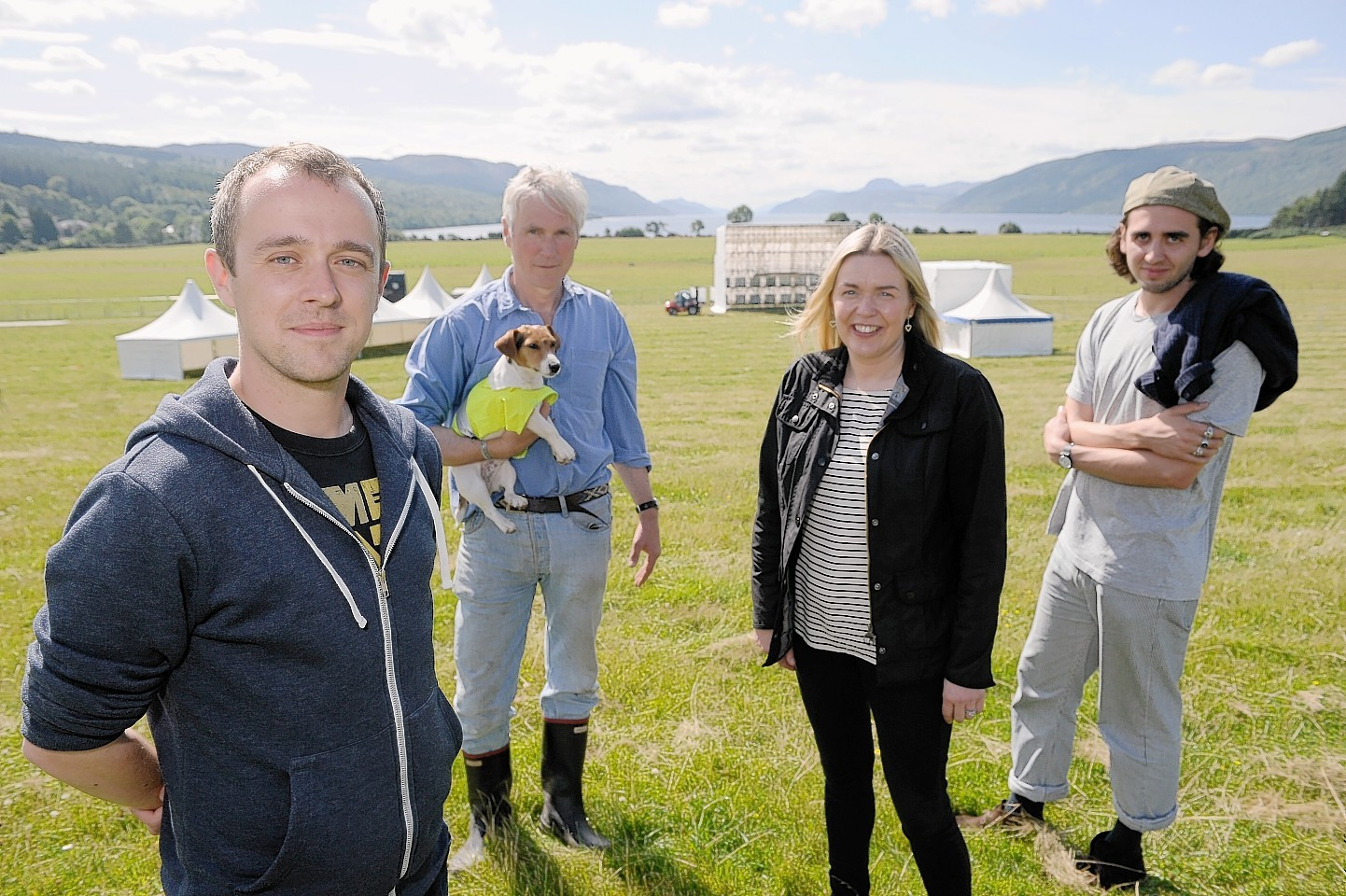 The Groove Loch Ness organisers Dougie Brown, Joe Gibbs, Caroline Campbell and Sam Barker