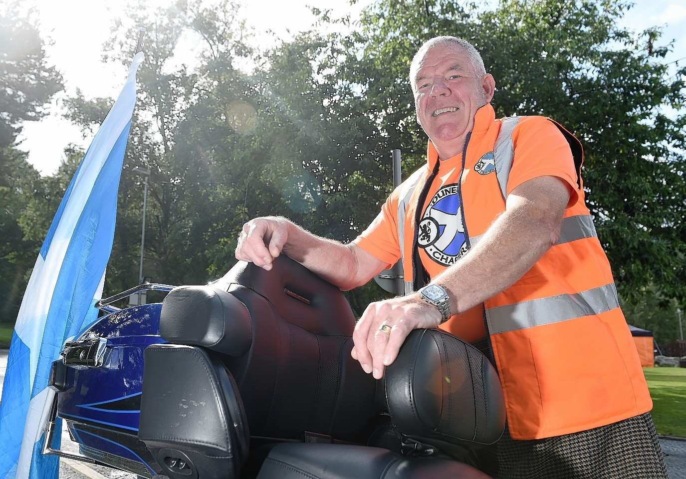 Thunder in the Glens returns to Aviemore. Rally co-ordinator George McGuire as the event gets under way.