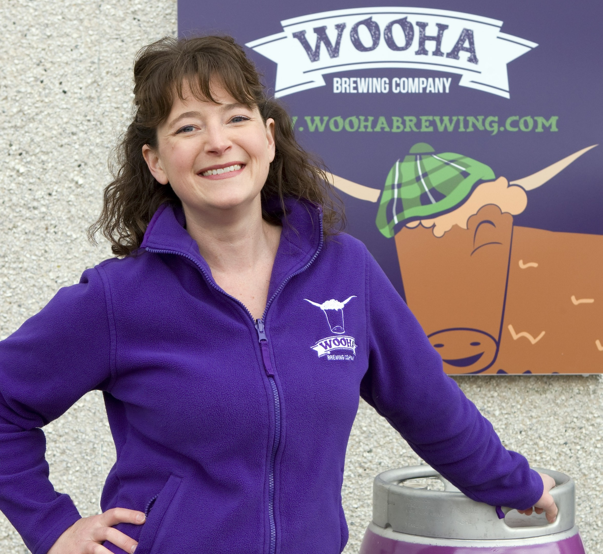 Heather McDonald - owner and head brewer at WooHa Brewing Company