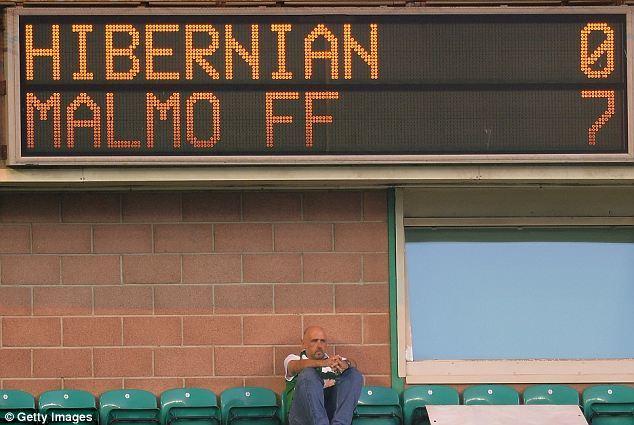 Hibernian 0-7 Malmo
