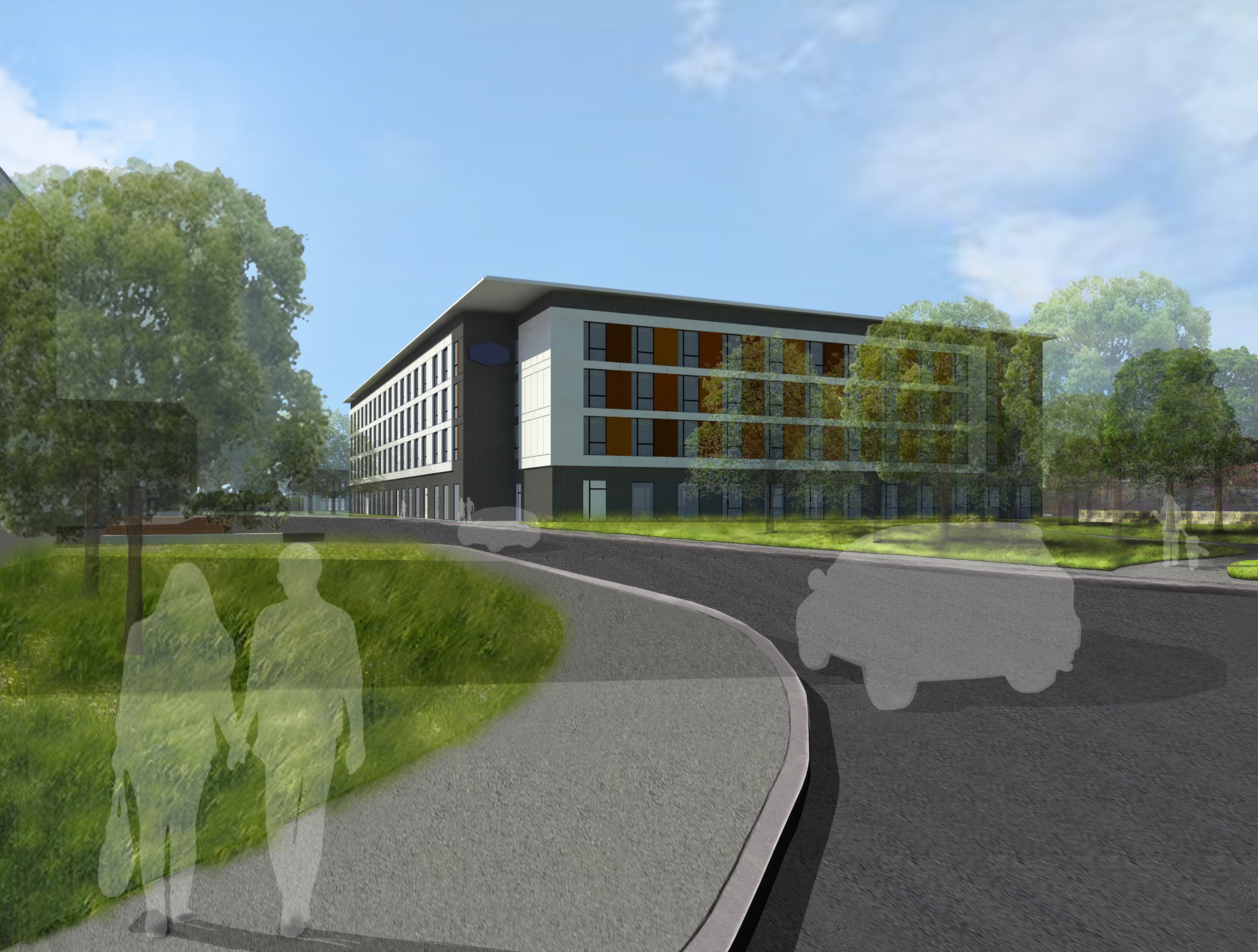 Artist's impressions of the  new Hilton hotel in Westhill