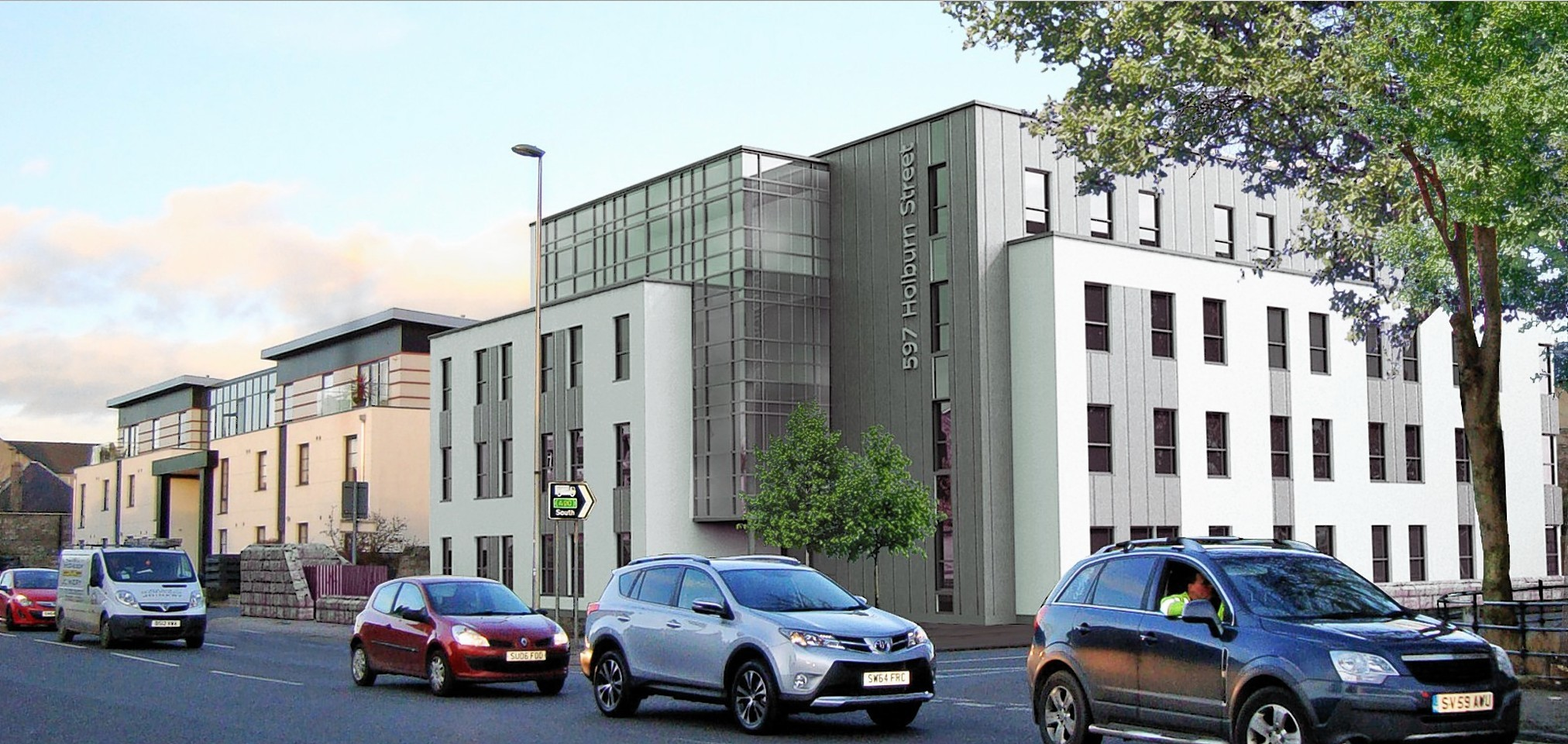 Artist impressions of the plans for student flats on Holburn Street