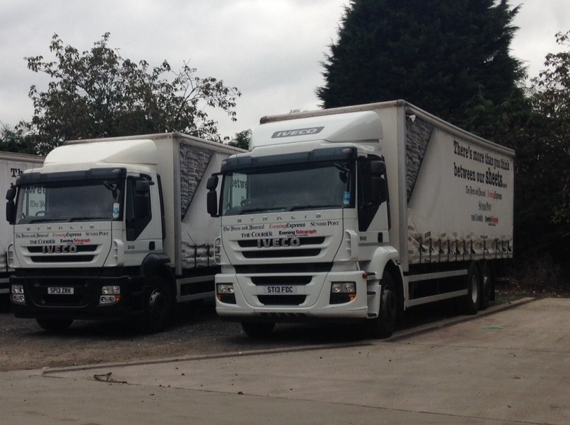 Press and Journal delivery lorry